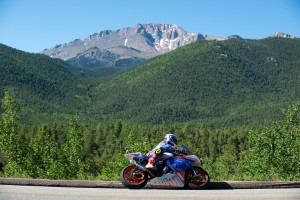 Adam Bauer during his run up Pikes Peak June 29th 2014