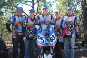 2014 PPIHC Team Just-Us Racing from left to right, Joey Kasper, Susan Bauer, Adam Bauer, Erica Bibeau, and Craig Bibeau.